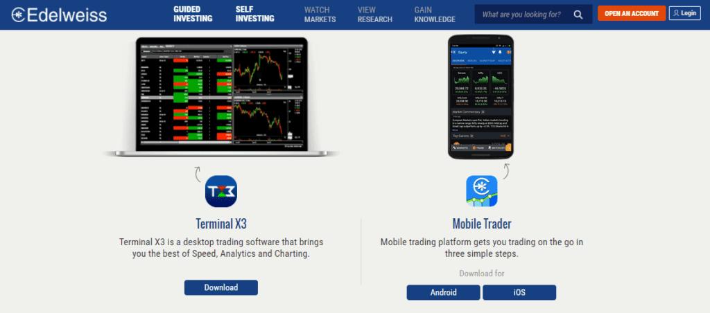Edelweiss Trading Platforms