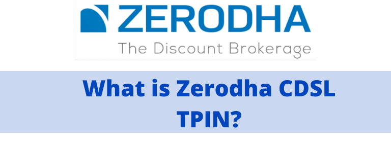 What is tpin in zerodha & cdsl