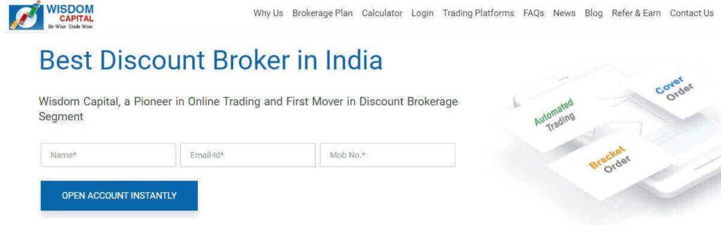 Wisdom Capital Best Discount Broker